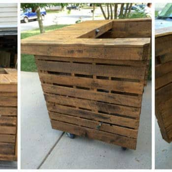 Backyard Pallet Bar