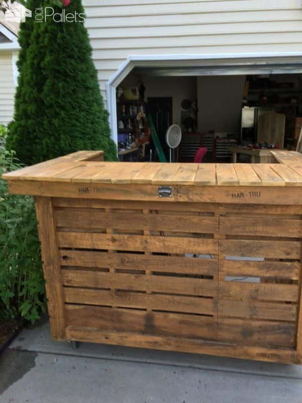 Backyard Pallet Bar Lounges & Garden Sets