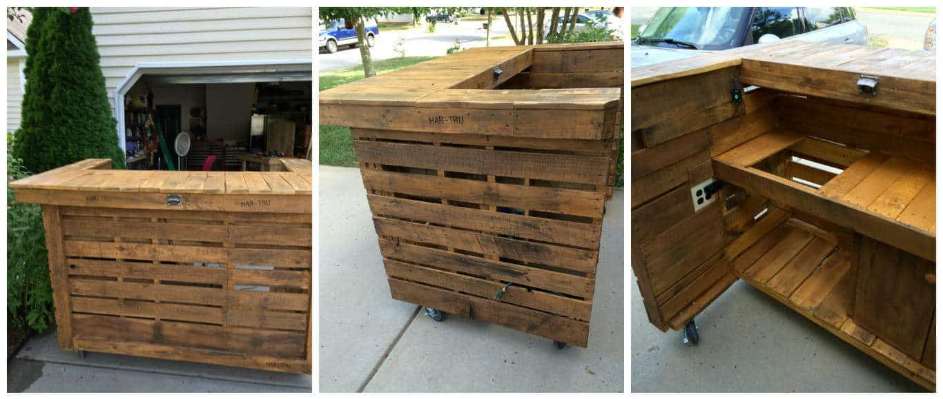 Backyard Pallet Bar • Pallet Ideas • 1001 Pallets