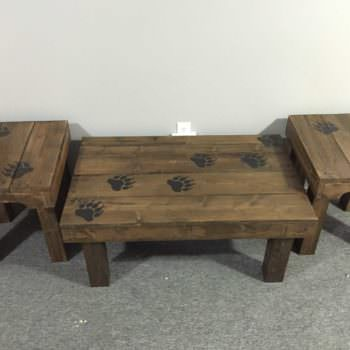 Bear Claw Coffee Table & End Tables