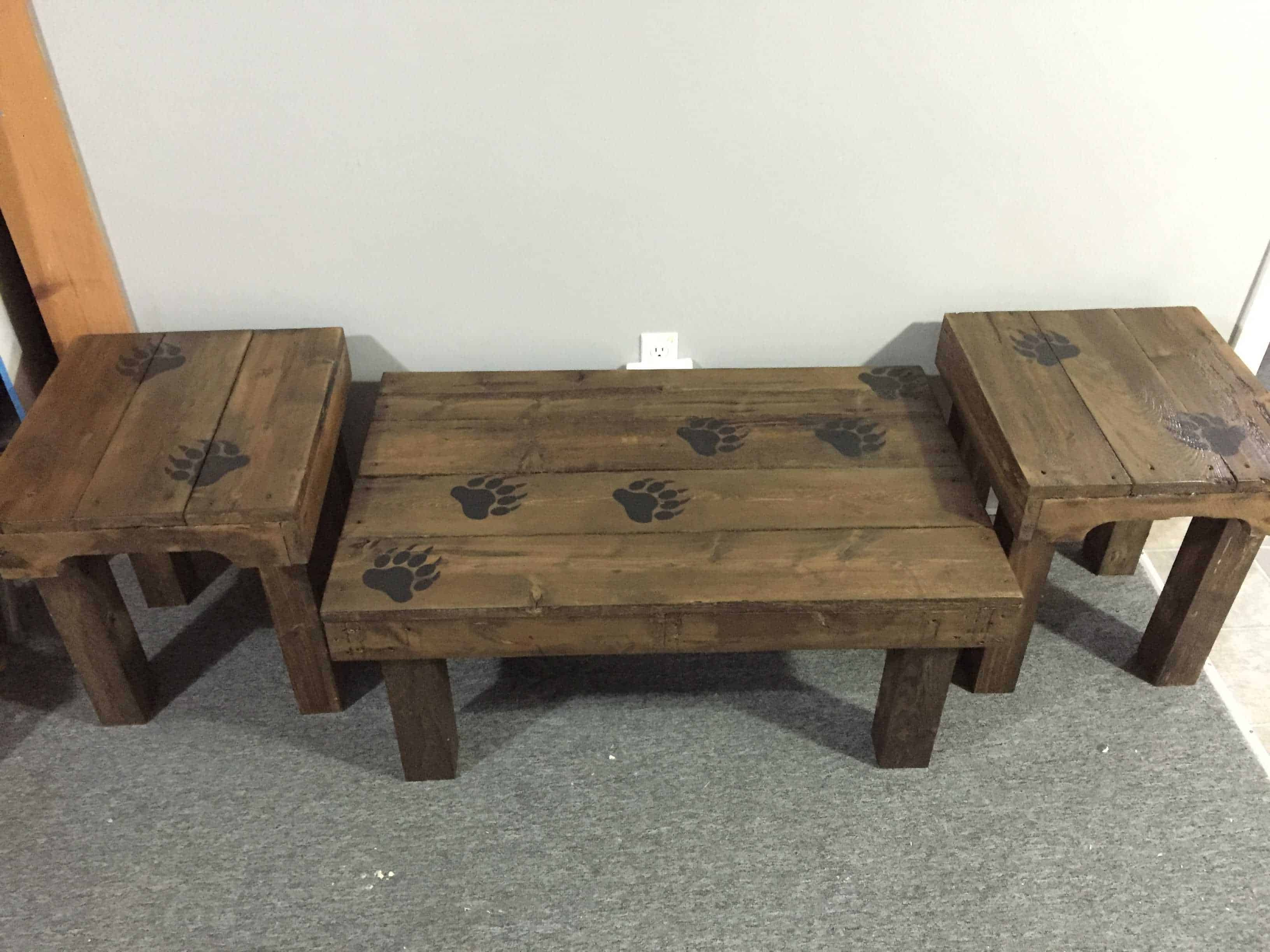 Bear Claw Coffee Table & End Tables • 1001 Pallets