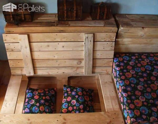 Can You Convert Your Pallet Lounge Into a Double Bed at Night ? Lounges & Garden Sets Pallet Sofas