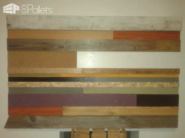 Colored Frame with Leftovers Pallet Wall Decor & Pallet Painting