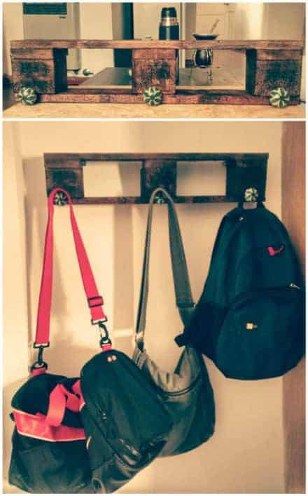Easy Coat Rack Made With Recycled Pallet