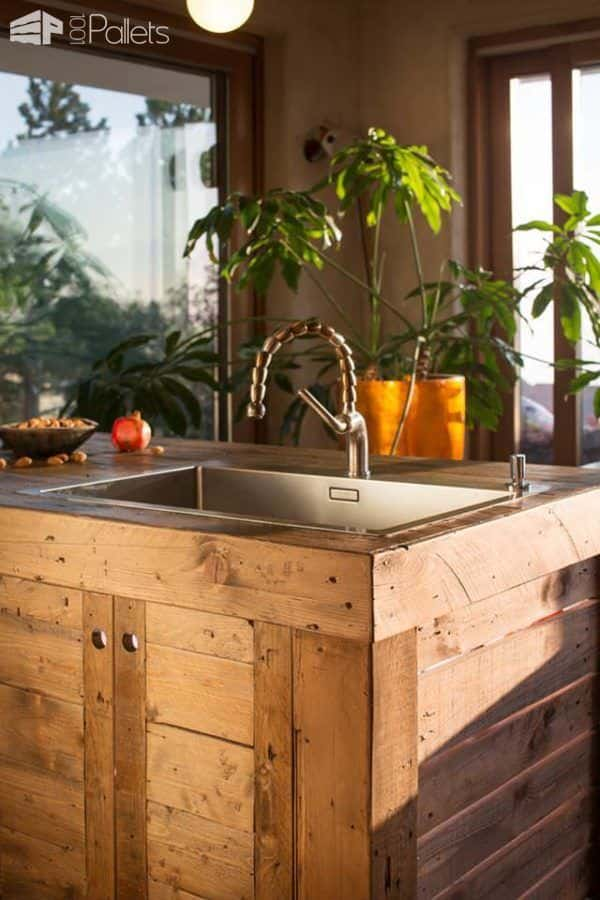 Entire Modern Kitchen Made Out Of Pallets 1001 Pallets