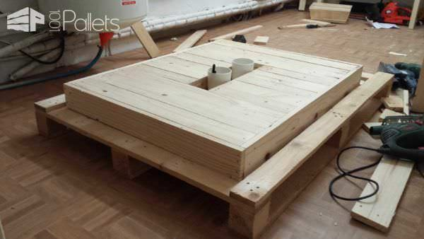 Fancy coffee table pallet ideas 1001 pallets - Creer sa table basse ...