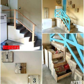 Garage Stairs Makeover With Pallets