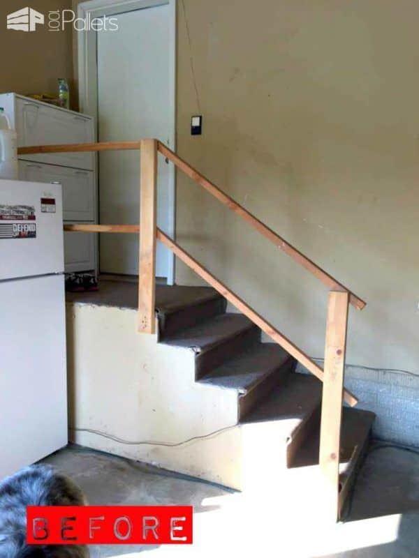 1001pallets.com-garage-stairs-makeover