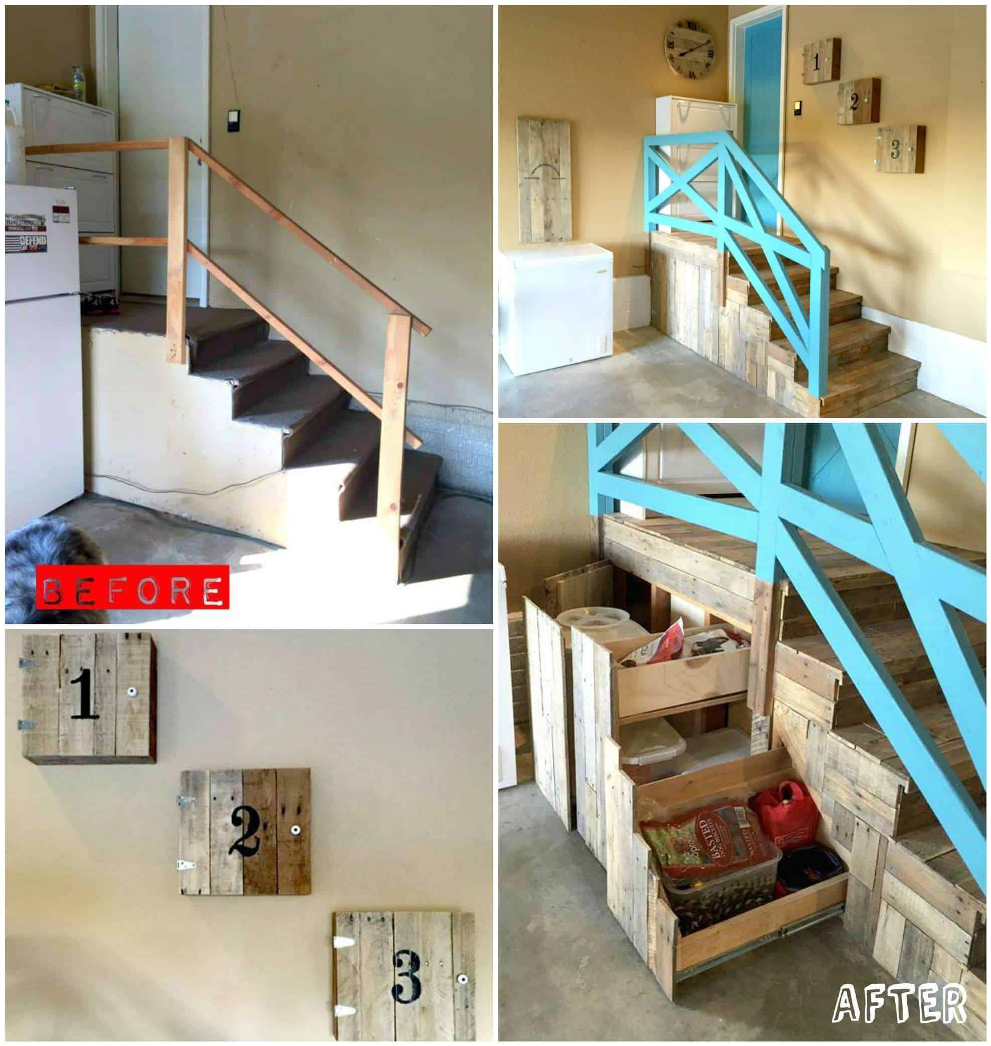 Garage Stairs Makeover With Pallets 1001 Pallets