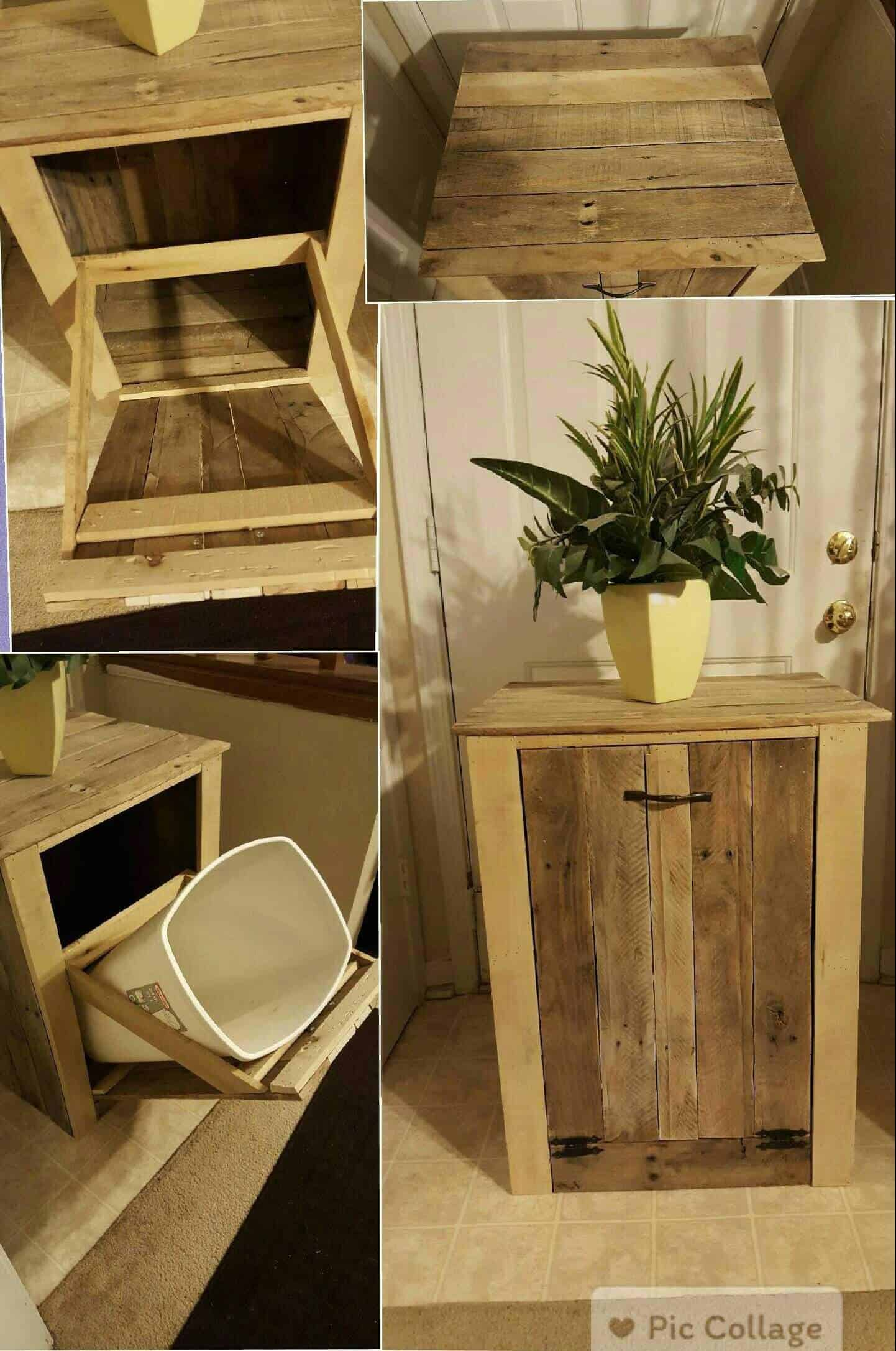 Garbage Can Holder Out Of Pallet Wood 1001 Pallets