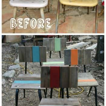 How I Reused Pallet Boards to Refurbish Vintage School Chairs