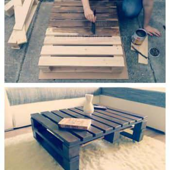 How to Make a Pallet Coffee Table (Tutorial+video)