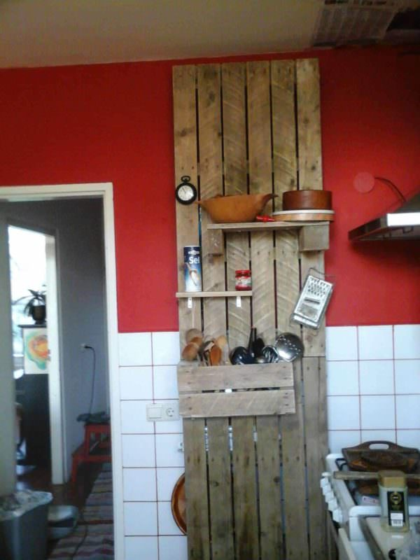 Kitchen cupboard made by roel pallet ideas 1001 pallets - Cupboards made from pallets ...