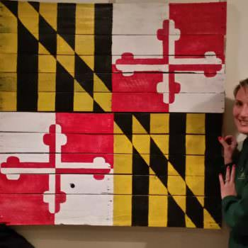 Maryland State Flag Project With My Daughter & Wife