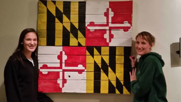 Maryland State Flag Project With My Daughter & Wife Pallet Wall Decor & Pallet Painting