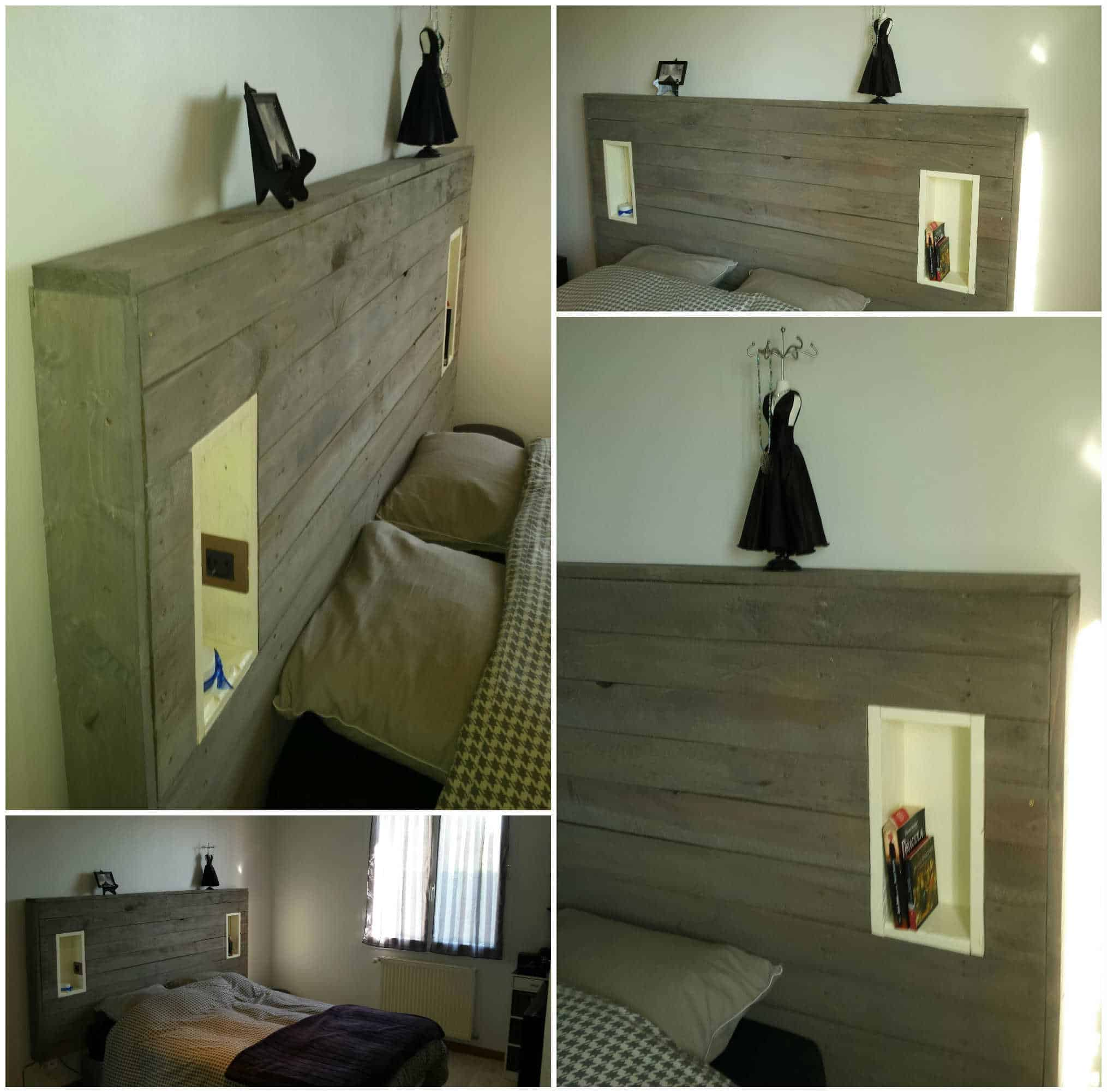 My Pallet Headboard With Lights & Electric Outlet • 1001 Pallets