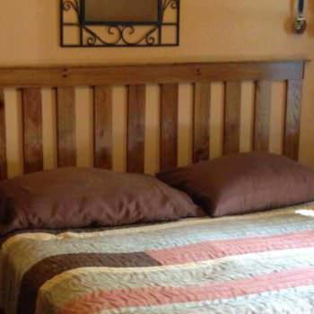 Oak Pallet Bed Headboard