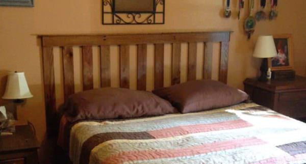 Oak Pallet Bed Headboard DIY Pallet Bedroom - Pallet Bed Frames & Pallet Headboards