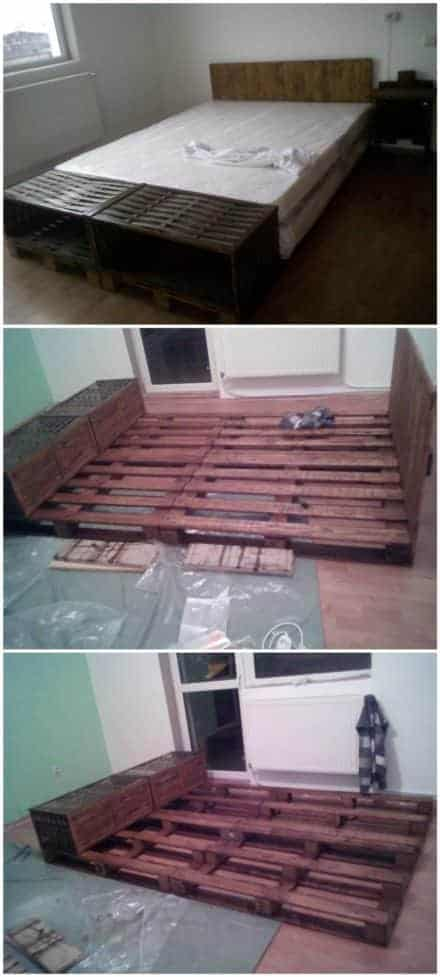 Pallet Bed & Headboard Out of 4 Recycled Pallets