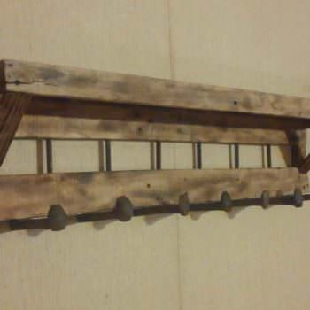 Pallet Coat Rack With Shelf