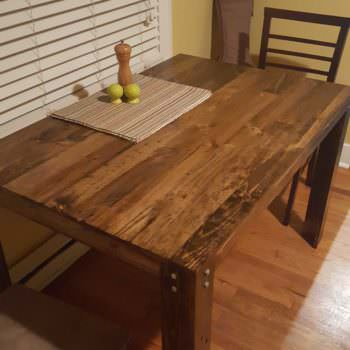 Pallet Dining Table. First Diy Project!