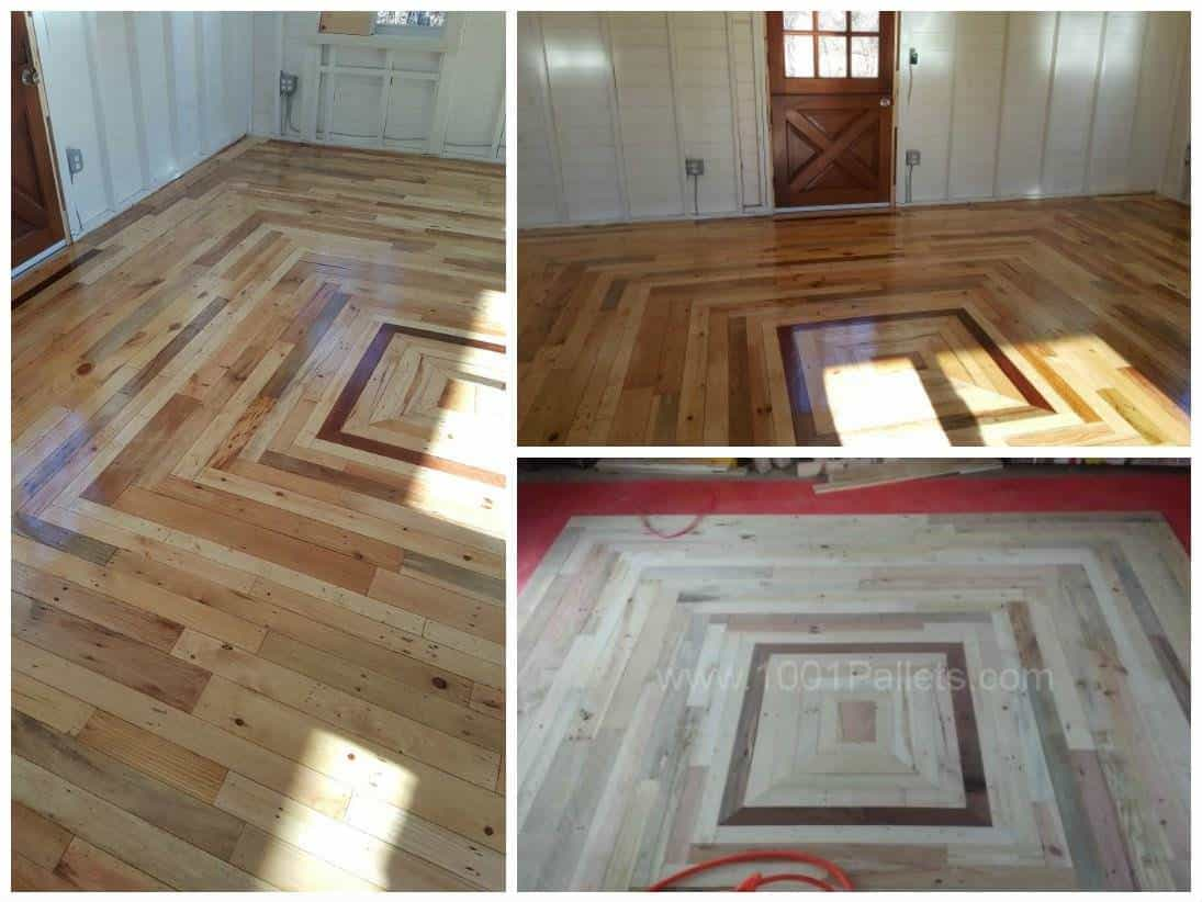 Pallet Floor in My Cottage Out Back \u2022 Pallet Ideas \u2022 1001 ...