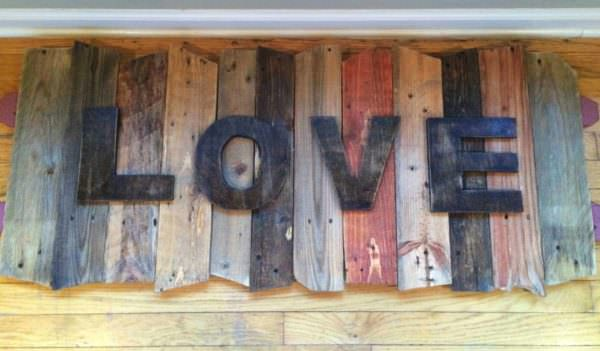 Pallet Love Sign Pallet Wall Decor & Pallet Painting