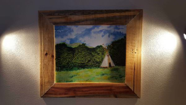 Pallet Picture Frame Pallet Wall Decor & Pallet Painting