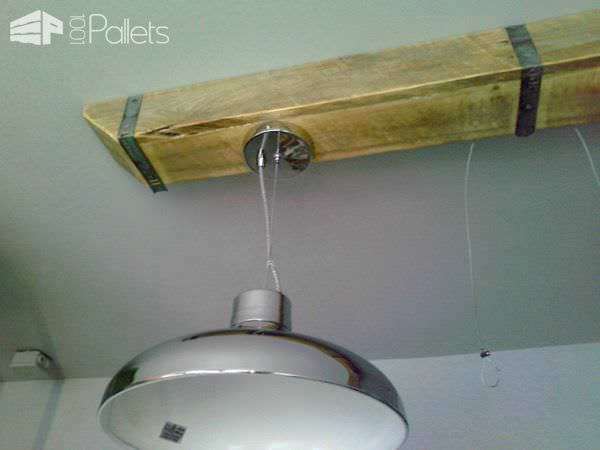 Pallet Wood Box Beam For Over Counter Lighting Pallet Lamps & Lights