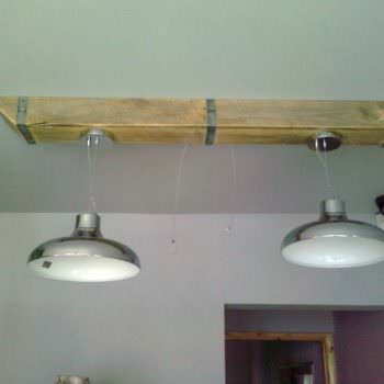 Pallet Wood Box Beam For Over Counter Lighting