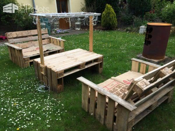 Pallets Garden Funiture Lounges & Garden Sets
