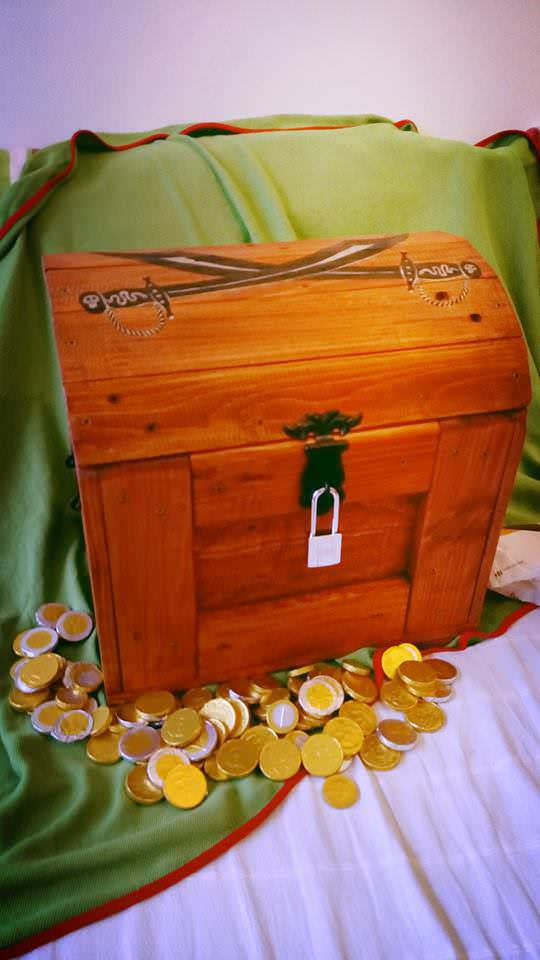Pirate's Chest Fun Pallet Crafts for Kids Pallet Boxes & Pallet Chests