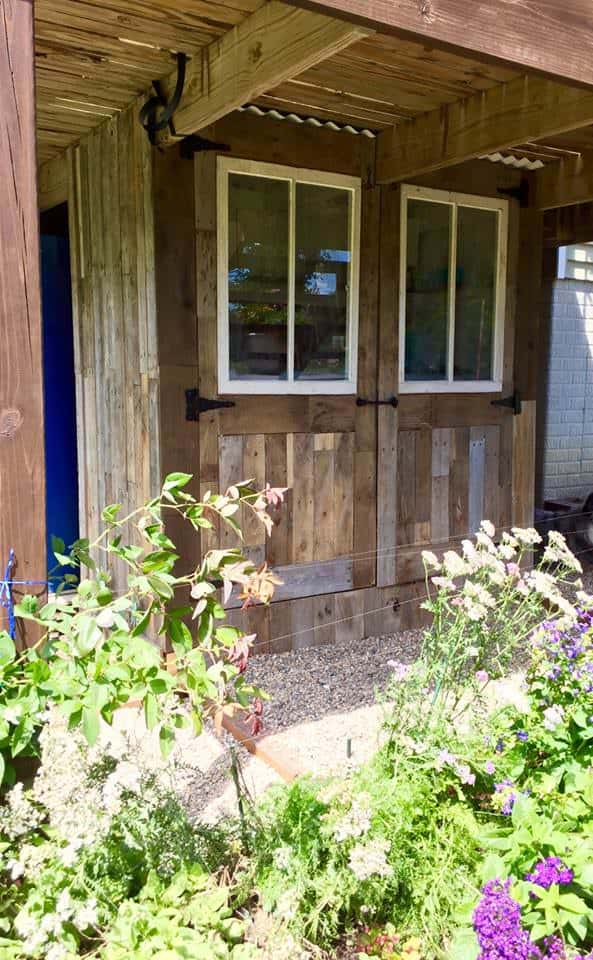 Potting Shed Makeover With Recycled Pallets Pallet Sheds, Cabins, Huts & Playhouses
