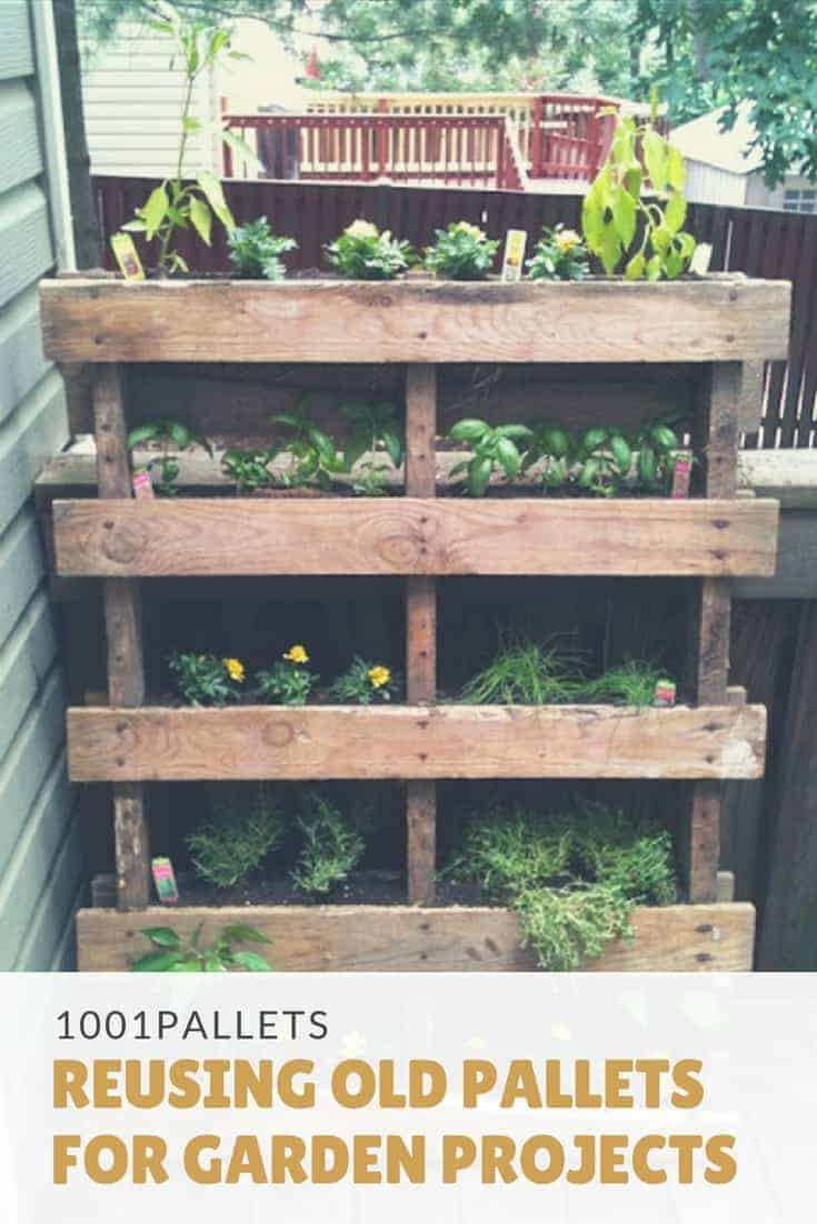 Reusing Old Pallets For Garden Projects 1001 Pallets
