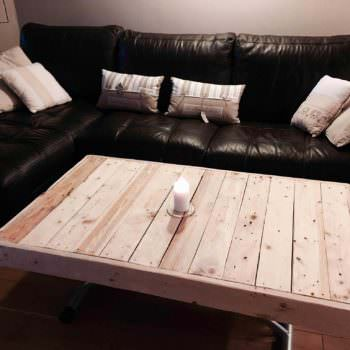Table Basse En Palettes / Pallet Coffee Table