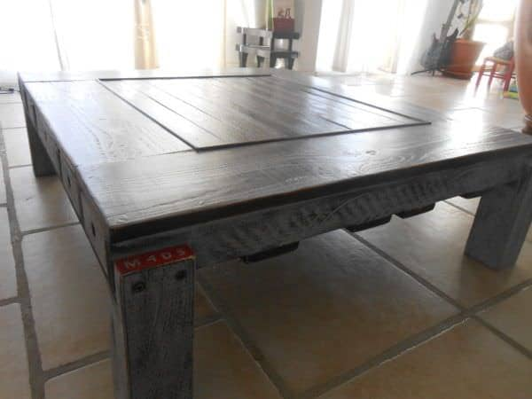 Table basse palette et pin douglas pallet douglas fir - Acheter table basse palette ...