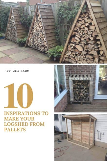 Top 10 Inspirations to Make Your Log Shed From Pallets