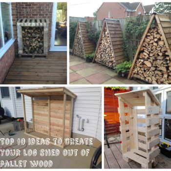 Top 10 Inspirations to Make Your Logshed From Pallets