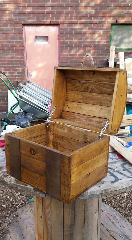 Treasure chest out of repurposed pallet wood 1001 pallets for Making things with wooden pallets