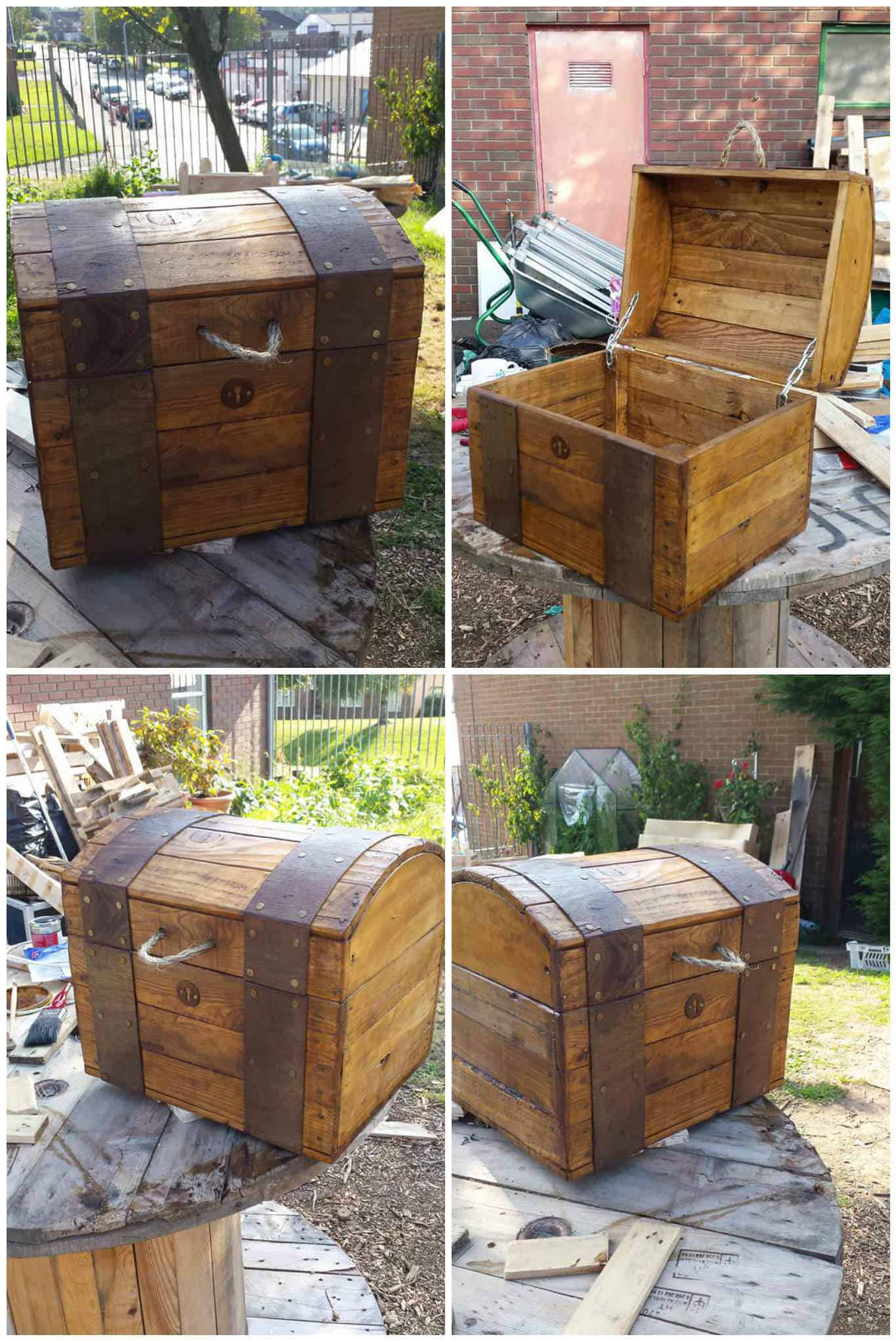 Treasure Chest Out of Repurposed Pallet Wood • Pallet Ideas • 1001 Pallets