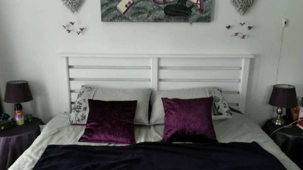 White Pallet Bed Headboard DIY Pallet Bedroom - Pallet Bed Frames & Pallet Headboards