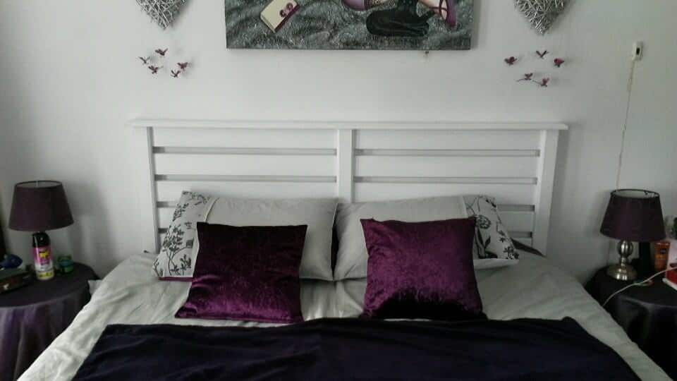 White pallet bed headboard 1001 pallets for White pallet bed