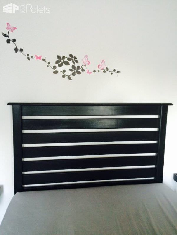 White Pallet Bed Headboard DIY Pallet bed headboard and frame - Pallet Bedroom