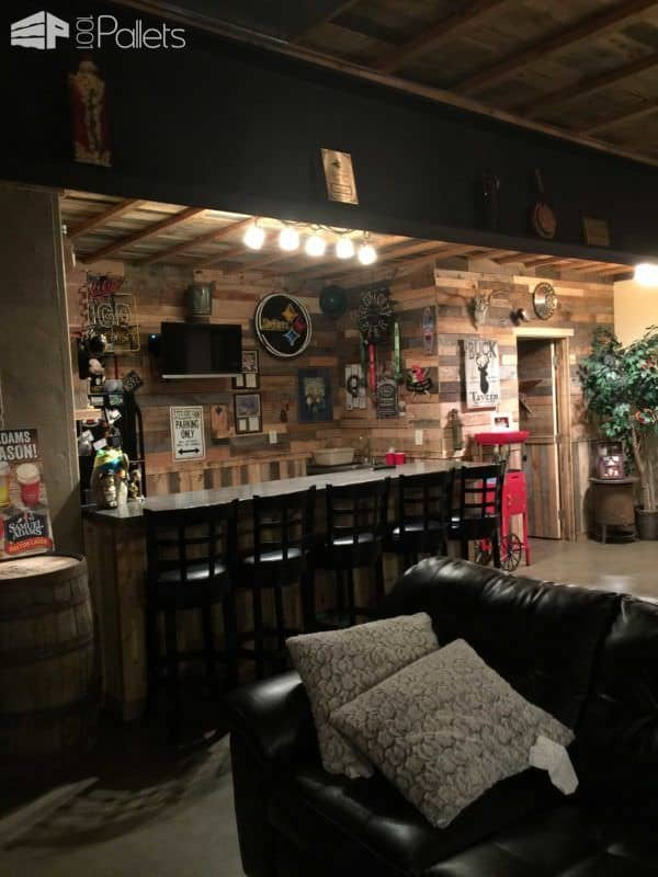Man Cave Bar Out Of Pallets : Pallets man cave pallet ideas