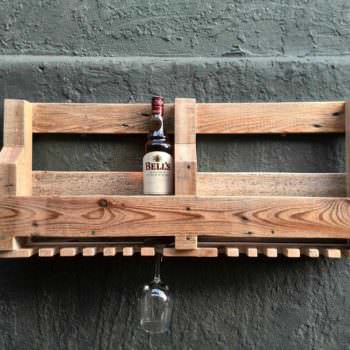 6 Bottle Wine Rack & Glass Holder