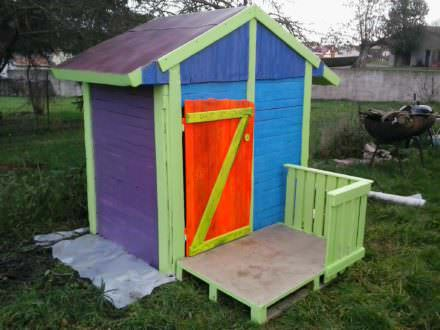 Cabane De Jardin Pour Enfants / Children Play House & Its Making of