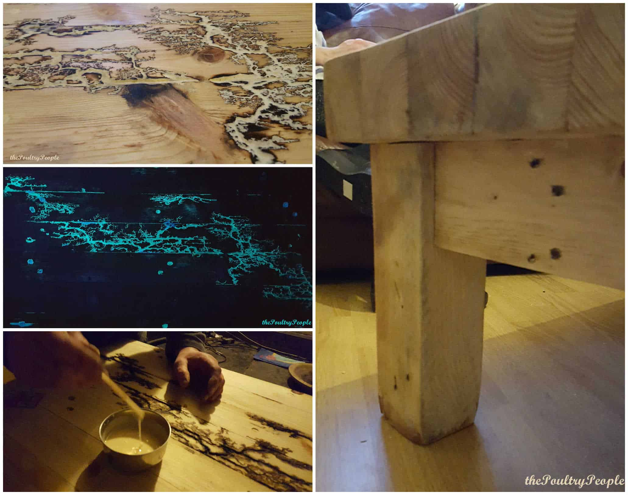 Chunky Pallet Coffee Table With Glow In The Dark Resin • Pallet ...