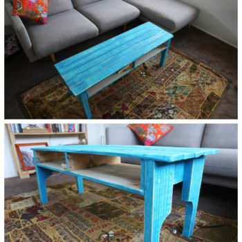 Coffee Table from One Pallet - Painted to Give a Rustic Look