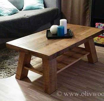 Table basse en palettes 2 pallets coffee table 1001 for Table en palette de bois