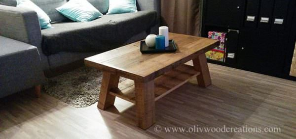 1001pallets.com Coffee Table Made From Pallets Table